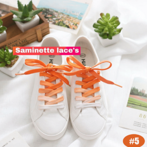 lacets orange et blanc saminette.fr