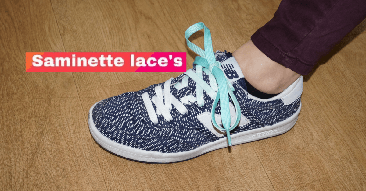 lacets Saminette turquoise