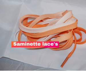 lacets orange saminette lace's