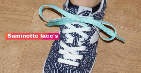 saminette.fr lacets bleu turquoise newbalance